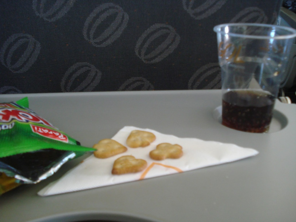 As refeições também estão na lista dos desaparecidos em vôos no Brasil.